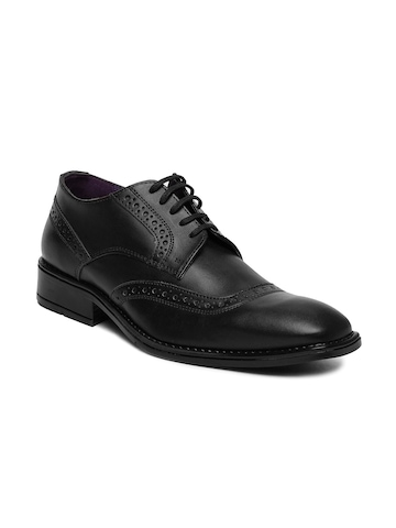 buy knotty derby black semi formal shoes 633