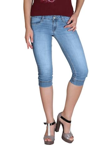 Kraus Jeans Women Blue Capris