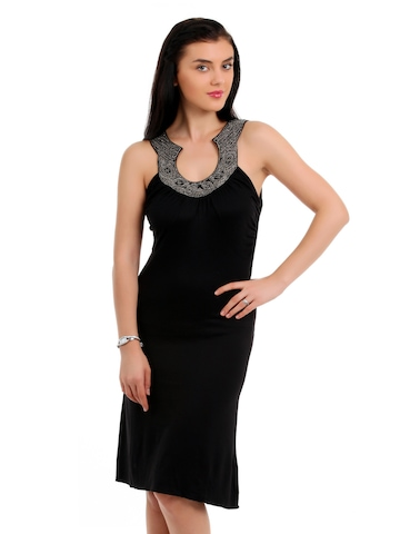 Latin Quarters Women Black Dress