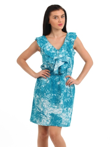 Latin Quarters Women Blue Dress