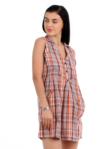 Latin Quarters Women Orange Dress