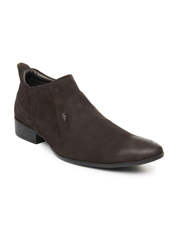 buy cooper brown leather semi formal shoes 633