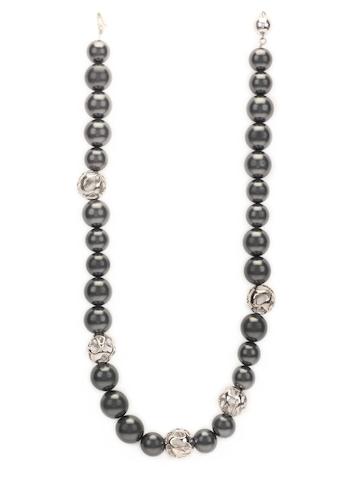 Lencia Grey Swarovski Pearl Necklace