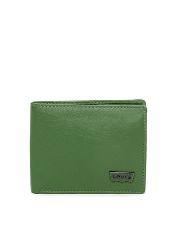 Levis Men Green Leather Wallet