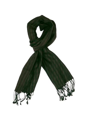 Lino Perros Men Black Stripes Scarf