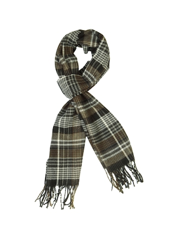 Lino Perros Men Grey Check Scarf