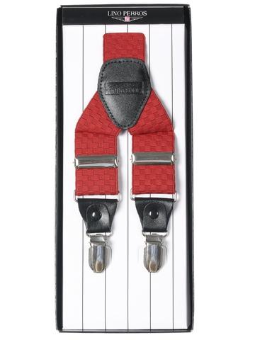 Lino Perros Men Red Suspenders