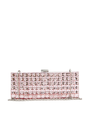 Lino Perros Women Beaded Pink Clutch