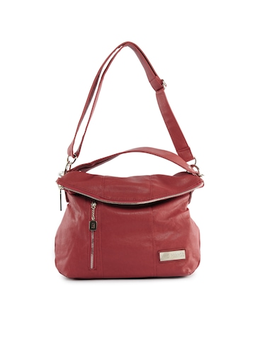 Lino Perros Women Leatherite Red Handbag