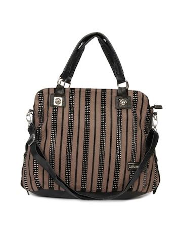 Lino Perros Women Sequins Brown Handbag