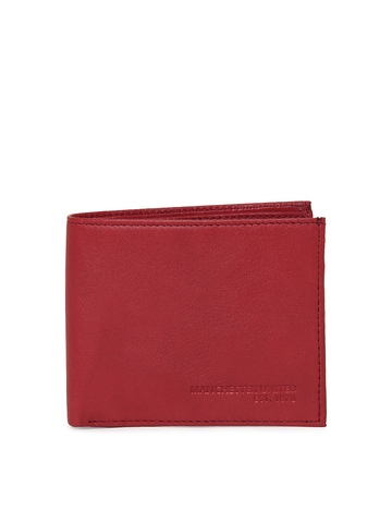 Manchester United Men Red Leather Wallet