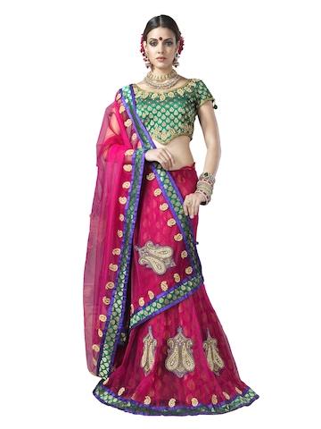 Manjula Magenta One Minute Sari