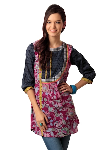 Mineral Women Pink Printed Tunic