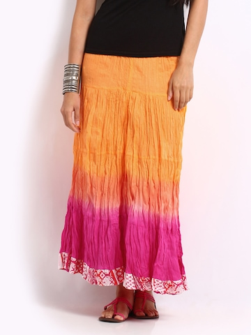 Mirage Orange & Pink Ombre Tiered Skirt