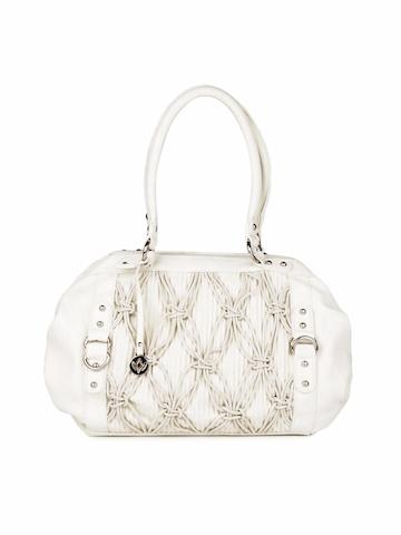Mod'acc Women Off White Handbag