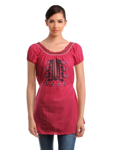 Mumbai Slang Women Pink Kurti
