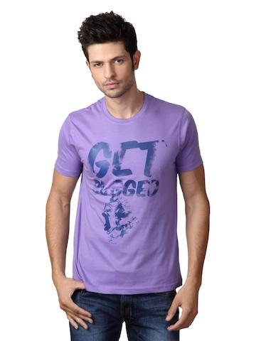 Myntra Men Purple T-shirt
