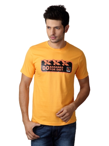 Myntra Men Yellow T-shirt