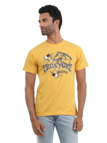 Myntra Men Yellow T-shirt