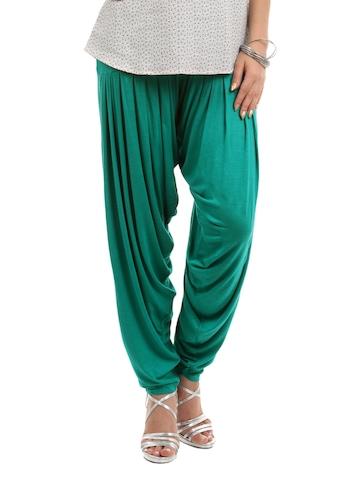 Myntra Women Green Patiala