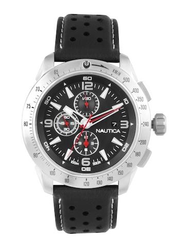 Nautica Men Black Dial Chronograph Watch