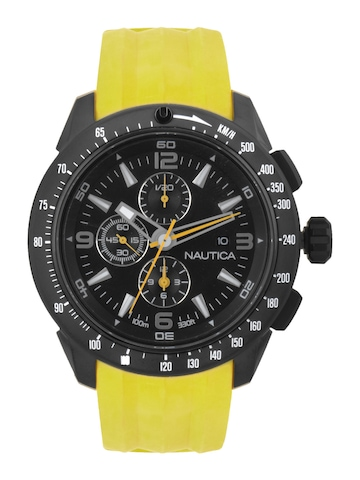 Nautica Men Black Dial Chronograph Watch