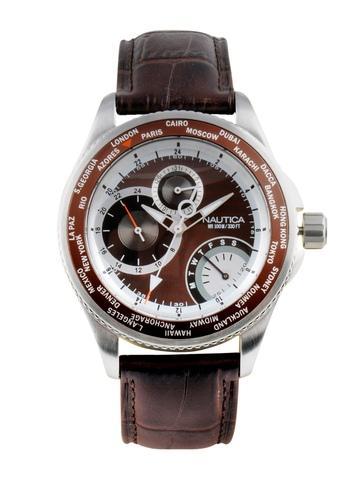 Nautica Men Brown Dial Chronograph Watch