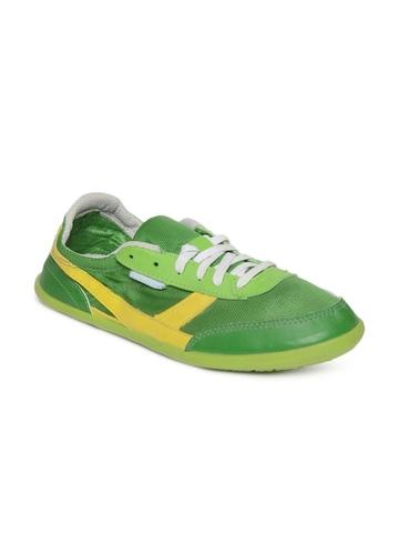 Newfeel Unisex Green Sports Shoes