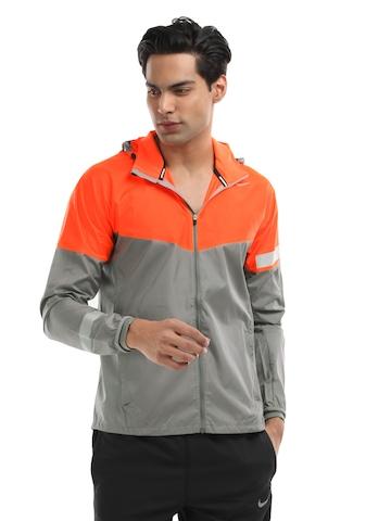 Nike Men Flourescent Orange & Grey Vapor Jacket