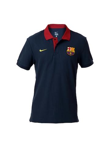 Nike Men Navy Blue FCB Polo T-shirt
