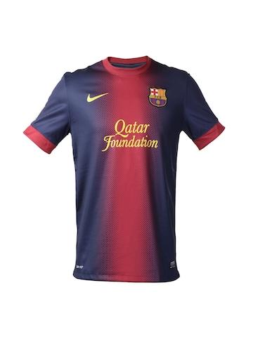 Nike Men Red & Blue FC Barcelona Jersey