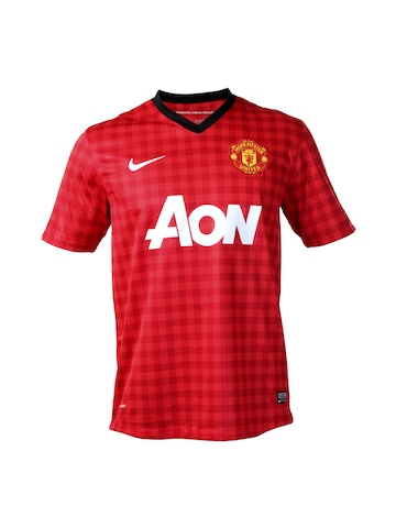 Nike Men Red Machester United Jersey