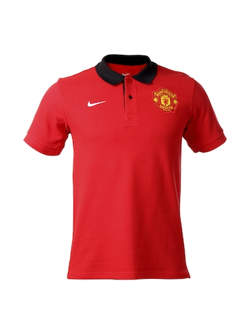 Nike Men Red Manchester United T-shirt