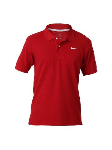 Nike Men Red  Polo T-shirt