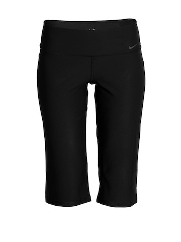 Nike Women Black Capri