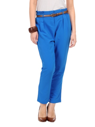 Nun Women Blue Straight Fit Trousers
