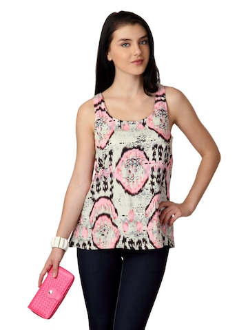 ONLY Women Cream Printed Top