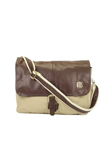 OTLS Unisex Beige Messenger Bag