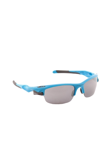 Oakley Men Blue Fast Jacket Sunglasses
