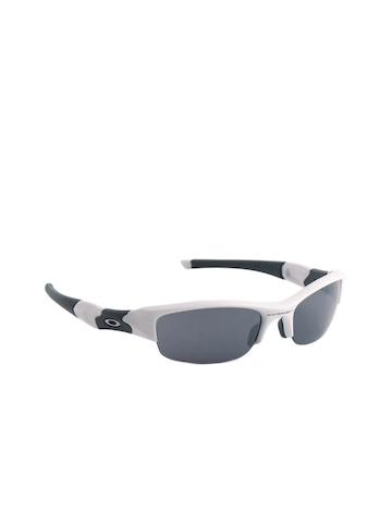 Oakley Men White Fast Jacket Sunglasses