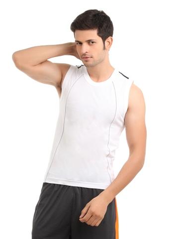 Park Avenue Men White Innerwear T-Shirt