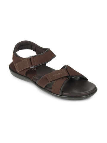 Pavers England Men Brown Leather Sandals
