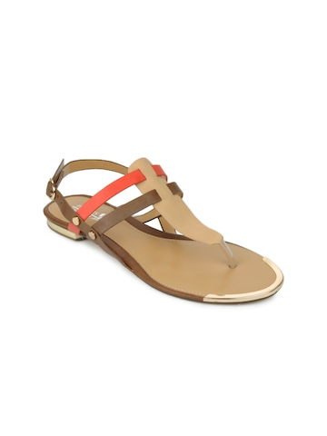 Buy Pavers England Women Brown Amp Red Sandals 444