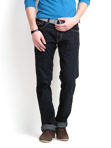 Pepe Jeans Men Blue London Slim Fit Jeans at myntra