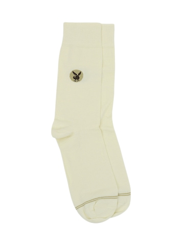 Playboy Men Cream Socks