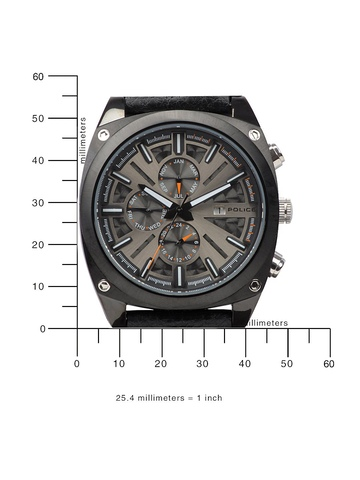 Police Men Black Dial Chronograph Watch PL12699JSB