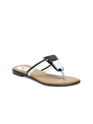 Portia Women Black & White Flats