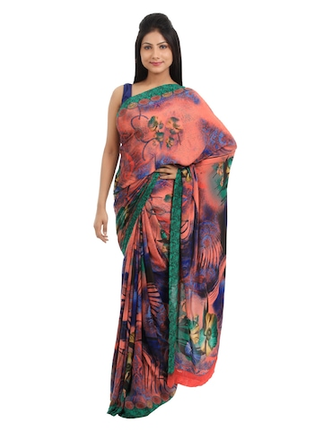 Prafful Multi Coloured Printed Sari