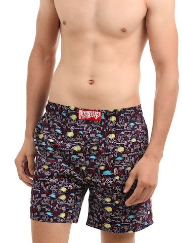 Probase Purple Printed Boxers