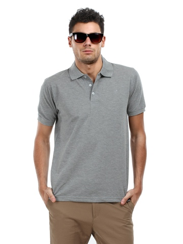 Proline Men Grey Polo T-Shirt